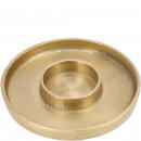 Metal candle holder Lamia, D18cm, H2cm, gold